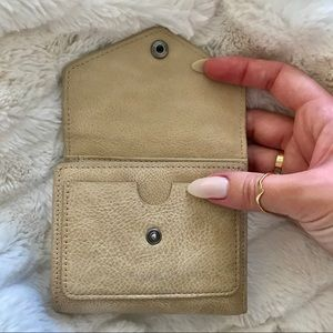 Accessories - Pebbled leather sand travel wallet with bill fold